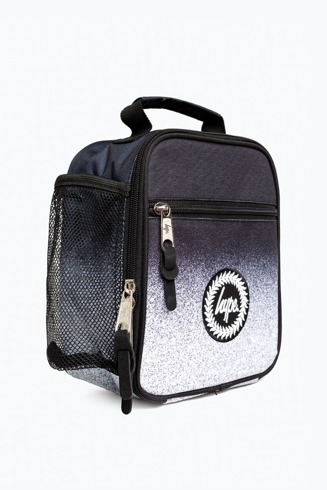 HYPE BLACK MONO SPECKLE FADE LUNCHBOX