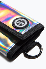 HYPE SILVER HOLOGRAPHIC TRIFOLD WALLET
