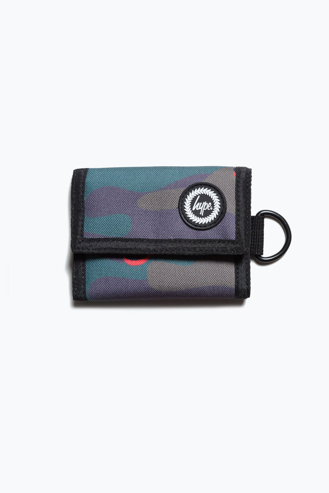 HYPE ORANGE CAMO TRIFOLD WALLET