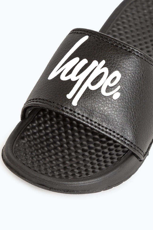 HYPE BLACK SCRIPT KIDS SLIDERS