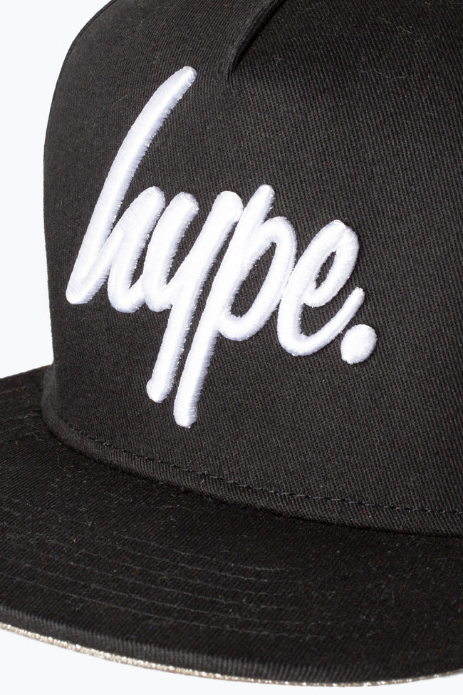 HYPE BLACK FOREST SCRIPT SNAPBACK HAT