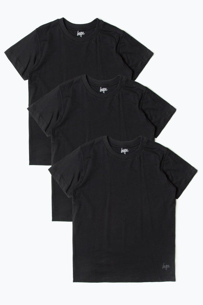 HYPE THREE PACK BLACK KIDS T-SHIRT