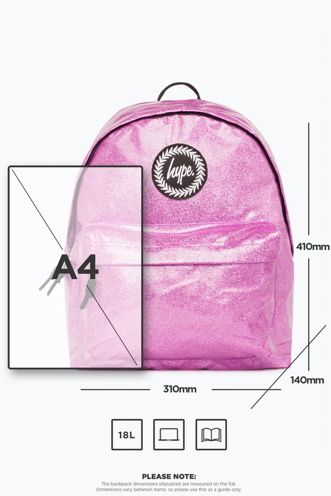 HYPE PINK GLITTER BACKPACK