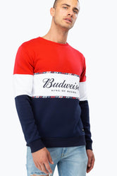 HYPE BUDWEISER COLOURBLOCK MEN'S CREWNECK