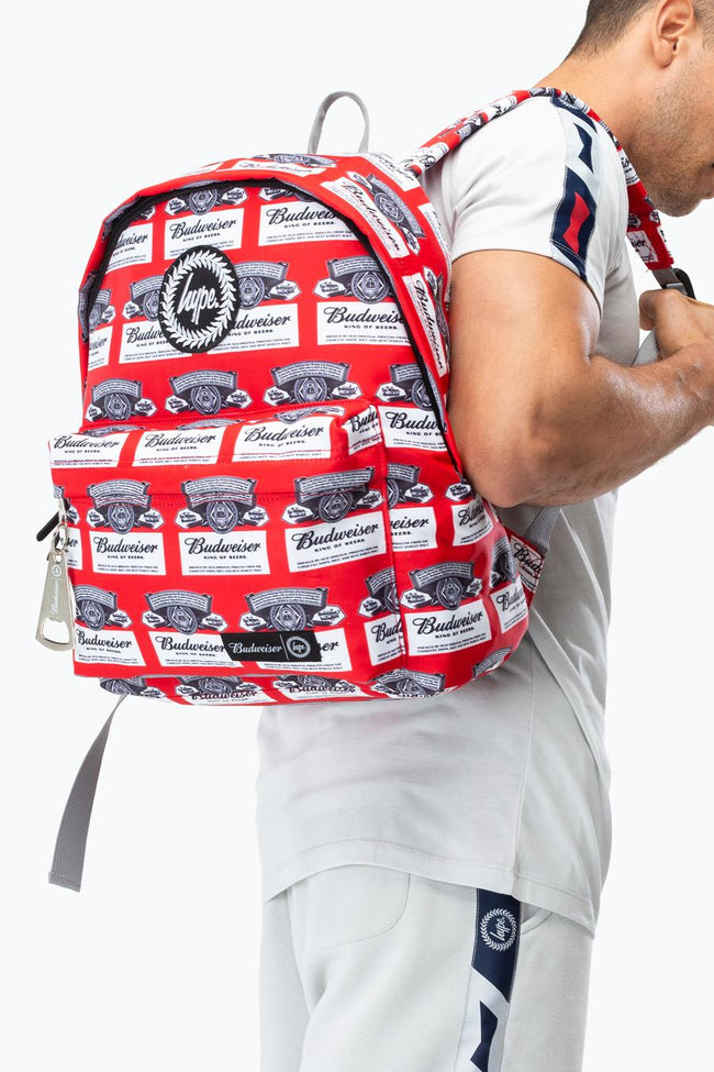 HYPE BUDWEISER REPEAT LOGO BACKPACK