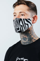 HYPE ADULT ZEBRA STRIPES FACE MASK