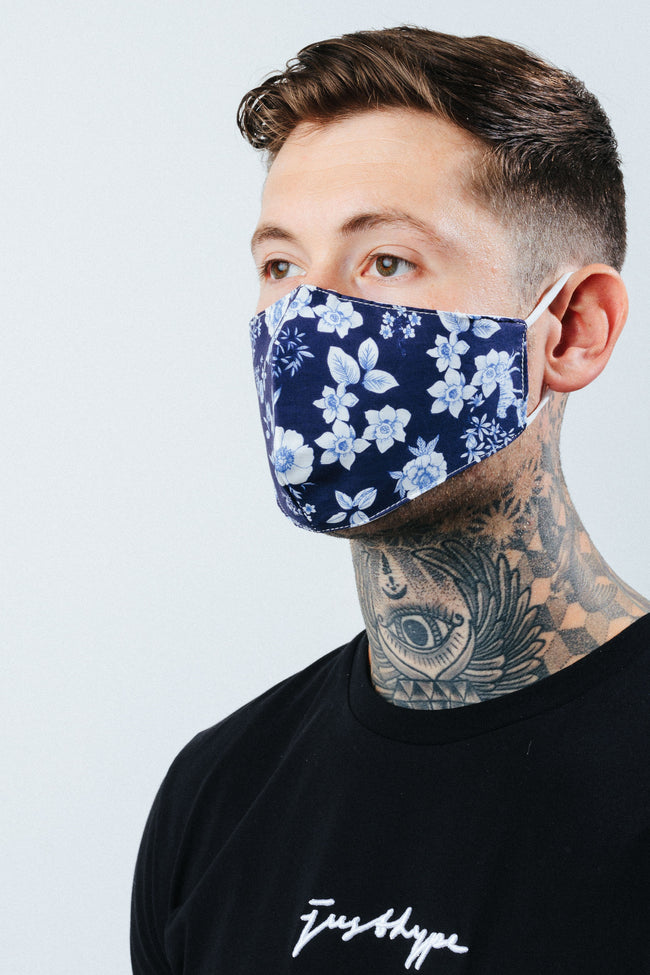HYPE ADULT BLUE GARDEN FACE MASK
