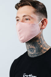 HYPE ADULT PINK GINGHAM CHECK FACE MASK
