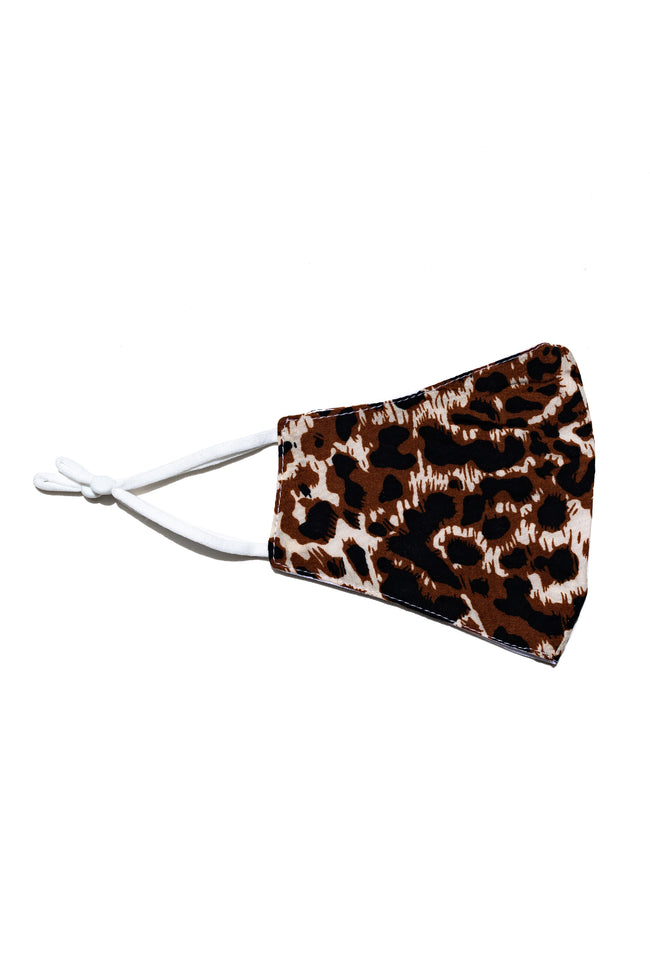 HYPE ADULT LEOPARD PRINT FACE MASK