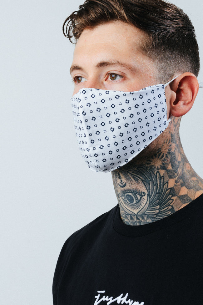 HYPE ADULT NAVY GEOMETRIC FACE MASK