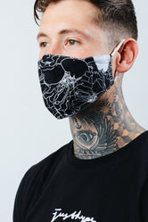 HYPE ADULT BLACK BOTANICS FACE MASK