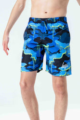 HYPE CAMO DRIP SCRIPT KIDS SWIM SHORTS