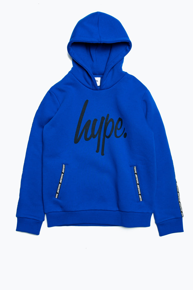 HYPE COBALT MICRO TAPING KIDS PULLOVER HOODIE