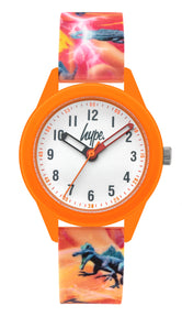 HYPE ORANGE DINOSAUR KIDS WATCH