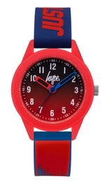 HYPE RED AND BLUE PAINT DRIP KIDS WATCH