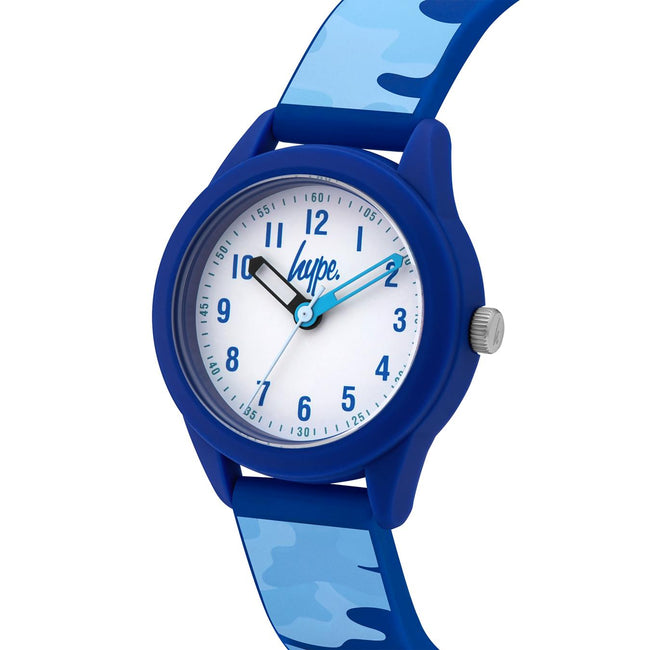 Hype Blue Camo Kids Watch