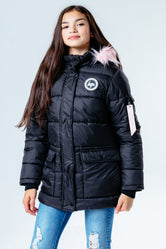 HYPE BLACK PINK HOOD KIDS EXPLORER JACKET