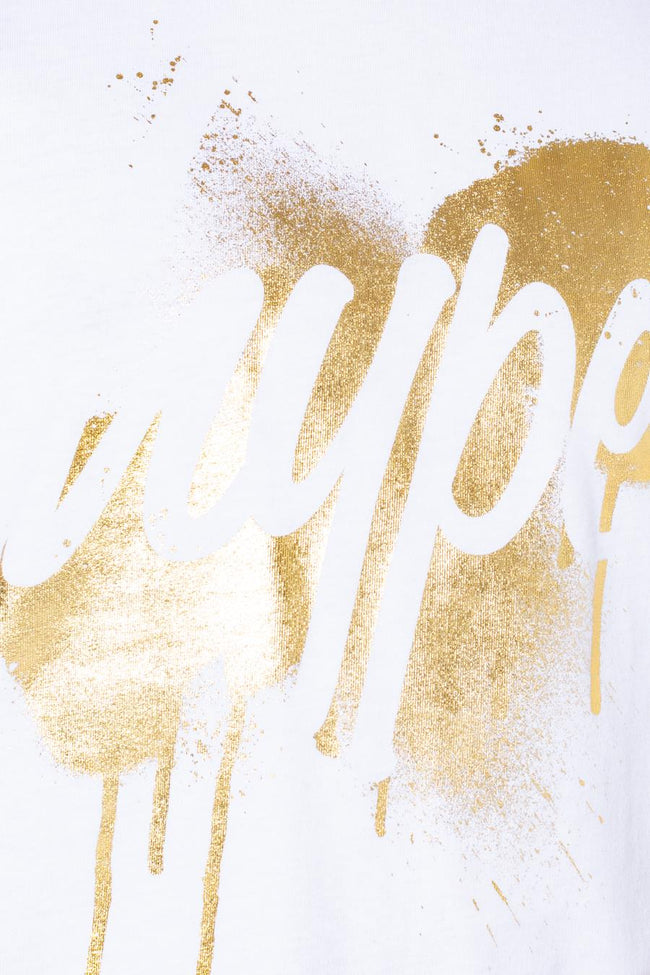 HYPE WHITE GOLD DRIPS SCRIPT KIDS T-SHIRT