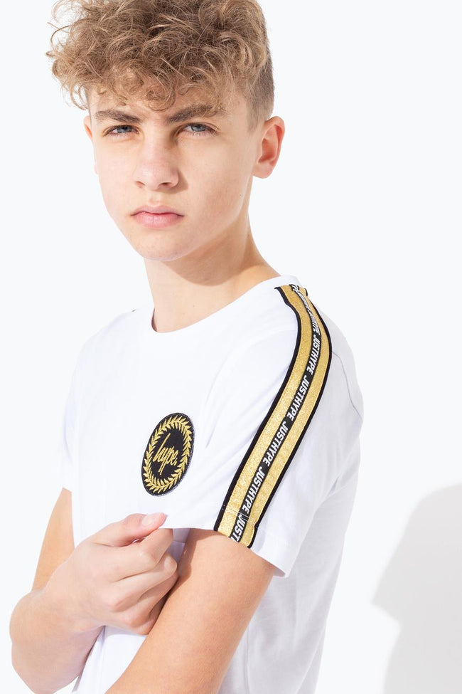 HYPE GOLD FOIL SLEEVE PANEL KIDS T-SHIRT