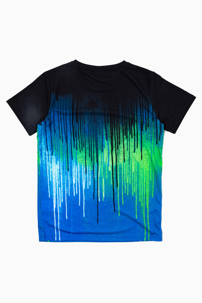 HYPE GREEN GLITCH DRIPS KIDS T-SHIRT
