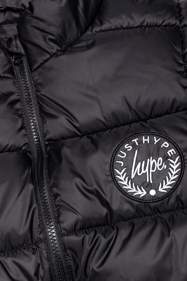 HYPE BLACK CREST KIDS GILET