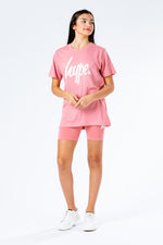 HYPE PINK KIDS T-SHIRT & CYCLE SHORTS SET