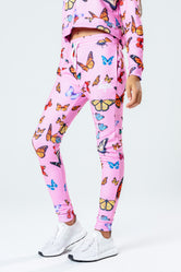 HYPE PINK BUTTERFLY KIDS JOGGERS