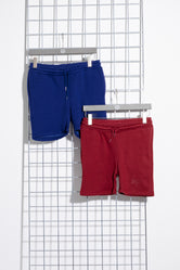 HYPE TWO PACK NAVY & BURGUNDY KIDS SHORTS