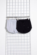 HYPE TWO PACK BLACK & GREY KIDS RUNNER SHORTS