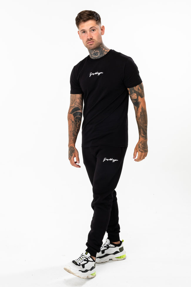 HYPE BLACK SCRIBBLE LOGO MEN'S T-SHIRT