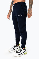 HYPE NAVY SCRIBBLE LOGO MEN'S JOGGERS