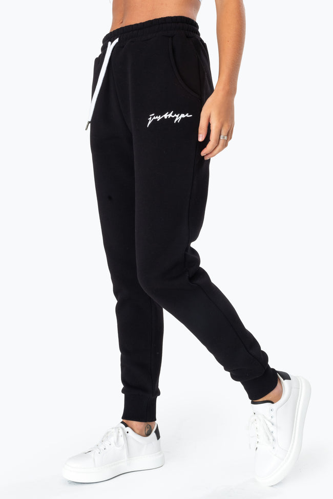 HYPE BLACK SCRIBBLE LOGO WOMEN'S JOGGERS
