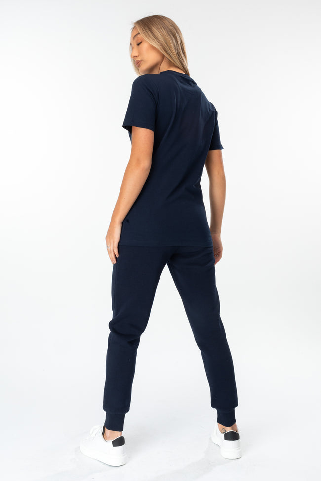 HYPE NAVY SCRIBBLE LOGO WOMEN'S JOGGERS