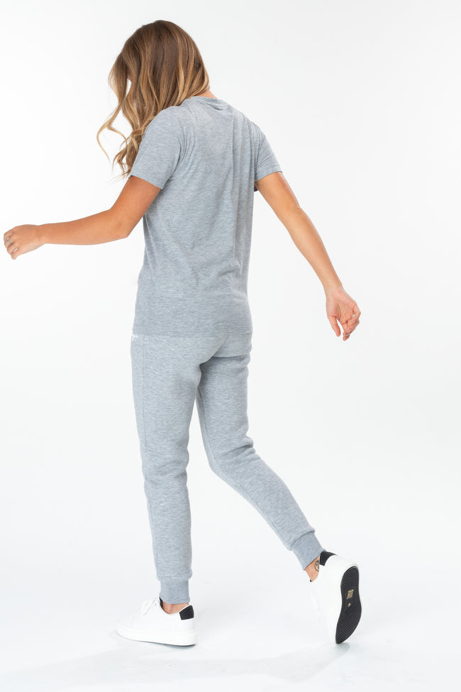 HYPE GREY SCRIBBLE LOGO WOMEN'S T-SHIRT