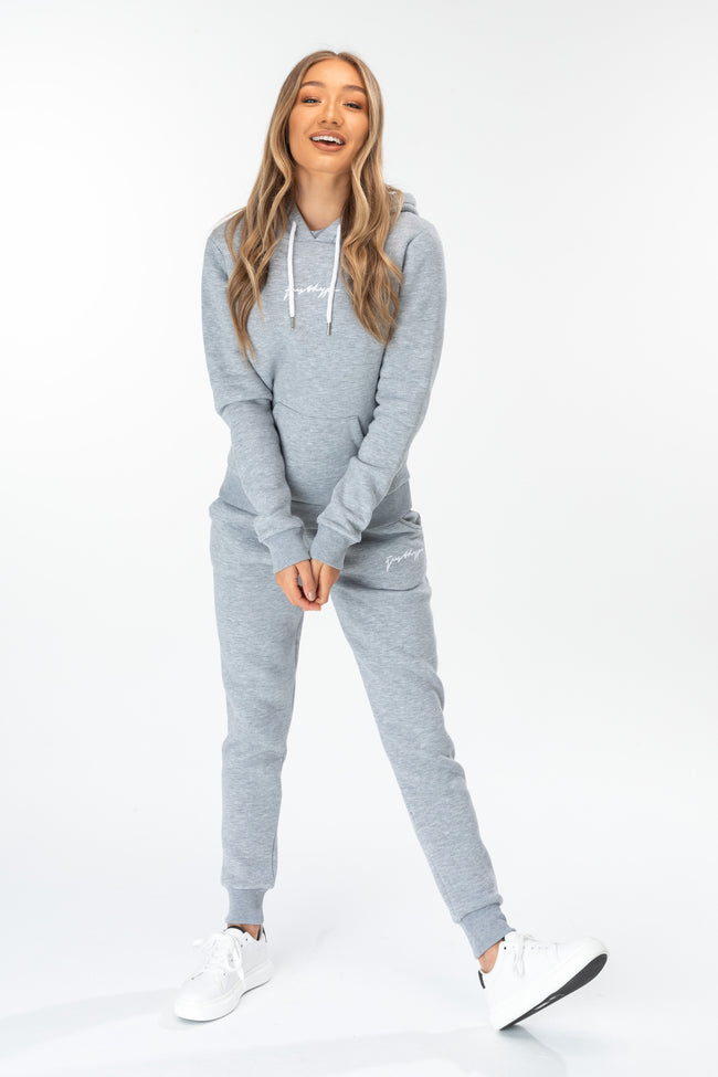 HYPE GREY SCRIBBLE LOGO WOMEN'S JOGGERS