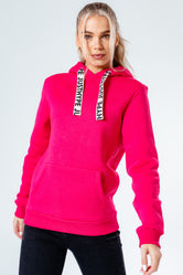 HYPE BRIGHT PINK DRAWSTRING WOMEN'S PULLOVER HOODIE