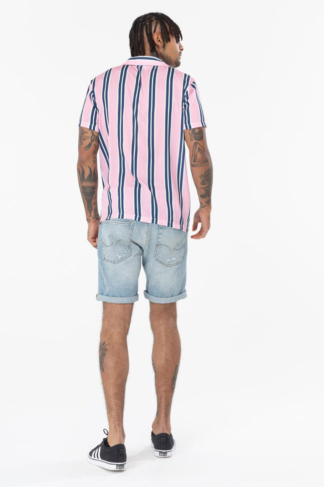HYPE PINK NAVY STRIPE MEN'S SHIRT