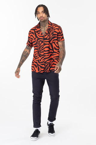 HYPE BURNT ORANGE TIGER MEN'S SHIRT