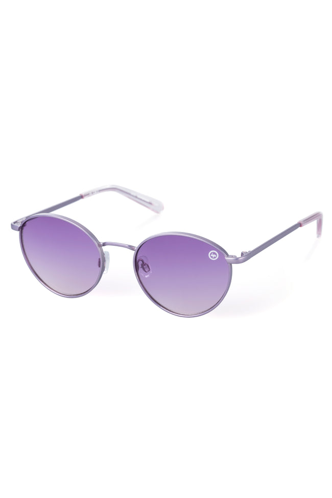 HYPE PURPLE ROUND SUNGLASSES