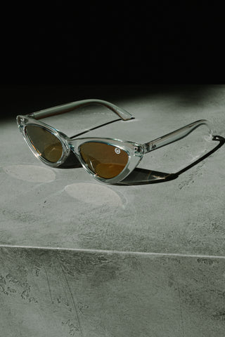 HYPE CLEAR CAT EYE SUNGLASSES