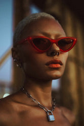 HYPE RED CAT EYE SUNGLASSES