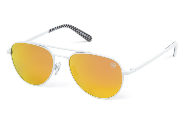HYPE WHITE CHECK HYPEPILOT SUNGLASSES