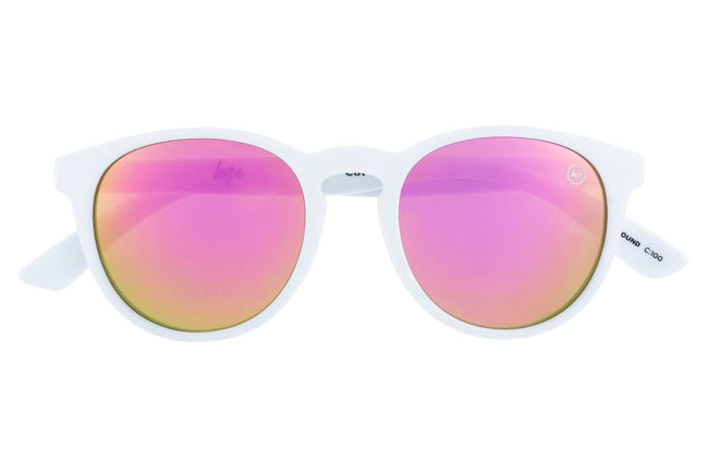 HYPE WHITE FLAMINGOS HYPEROUND SUNGLASSES