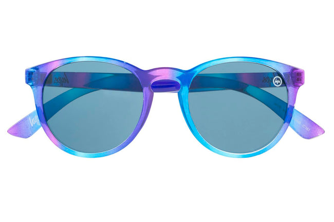 HYPE PINK BLUE ROUND SUNGLASSES