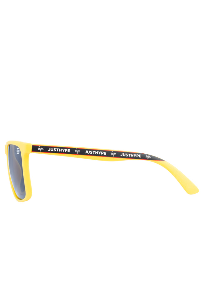 HYPE YELLOW BLACK STRIPE SUNGLASSES