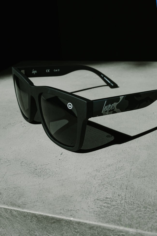 HYPE BLACK CAMO SPECKLE SUNGLASSES