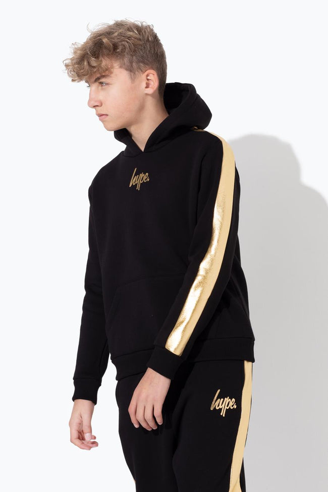 HYPE GOLD FOIL PANEL KIDS PULLOVER HOODIE
