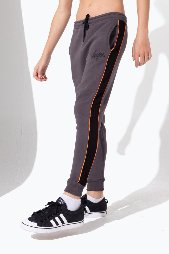 HYPE GREY PANELLED KIDS JOGGERS