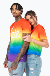 HYPE PRIDE MULTI FADE SCRIPT MEN'S T-SHIRT