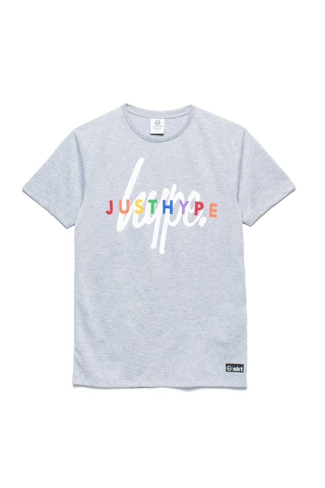 HYPE PRIDE GREY JUSTHYPE RAINBOW KIDS T-SHIRT